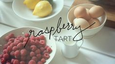 Watch the construction of beautiful, individual raspberry tarts with pastry cream.