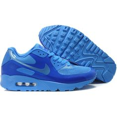 Online Mens Nike Air Max 90 Hyperfuse Blue Sale found on Polyvore
