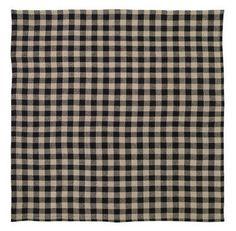 """Burlap Black Check Table Cloth 60x60"""" – Primitive Star Quilt Shop"""