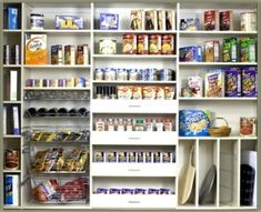Pantry organization - drawers instead of just shelves by verna