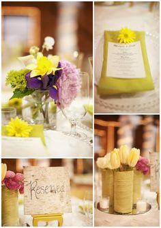 pretty & colourful barn wedding.......