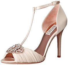 Badgley Mischka Womens Darling Dress Sandal Ivory 7 M US *** More info could be found at the image url.