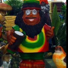 Rasta man garden gnome
