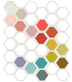 hexagon notecard