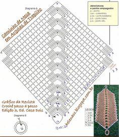 EU TAMBÉM CROCHETO...: Caminho de Mesa em Argolas de Trapilho