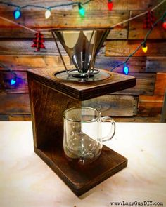 Woodworking Plans | Minimalist Pour Over Coffee Maker  @buildsomething #workshop #woodworking #diy