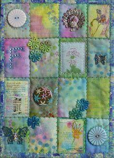 Frieda Oxenham: 24. Art Makes Life Journal Quilt