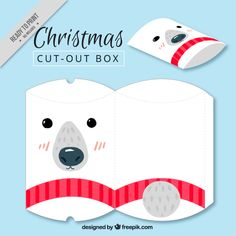 Ziemlich Eisbär Weihnachtskasten Kostenlose Vektoren
