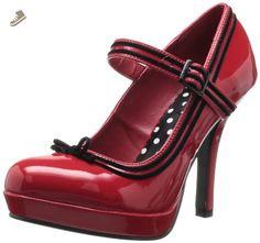 Pleaser Women's Secret-15 Pump,Red Patent,6 M US - Pleaser pumps for women (*Amazon Partner-Link)