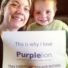 #ilovebeCAUSE #PurpleLion #Autism @AddieDeNittis