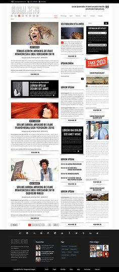 Newspaper Website Template Projects To Try Pinterest Template
