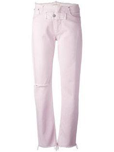 Image result for Alyx studio Frayed trim jeans