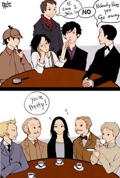 Elementary!Sherlock and 'Joan' Watson are received rather differently by their cohorts.