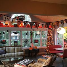 Hello October!  We've been waiting for you!! #ourfavoritemonth #halloweenaddict #halloweendecorations #gobigorgohome #october #halloween #myholidayhouse