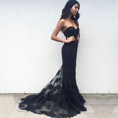 Hot Selling Sweetheart Long Navy Blue Bridesmaid Dresses/Prom Dresses with Lace