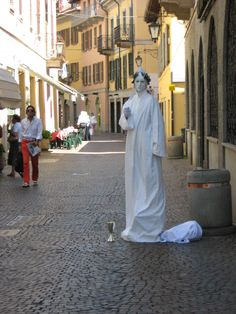 live statue in Arona, Italy. This is my most recent aspiration.