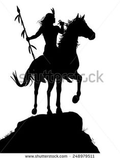 stock-vector-eps-editable-vector-silhouette-of-a-native-american-indian-warrior-riding-a-horse-with-figures-as-248979511.jpg (350×470)