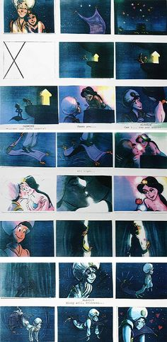 Film: Aladdin ===== A Whole New World Storyboards (Pages 10-12)