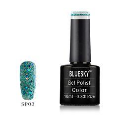 Bluesky UK World Bluesky Gel Polish SP03 Tinsel Green