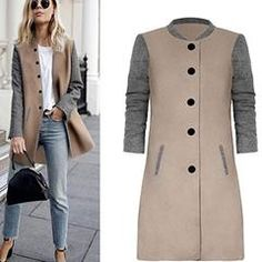 Gotd Womens Casual Long Sleeve Cardigan Jacket Lady Coat Jumper Knitwear Cashmere Autumn Winter (M, Gray)