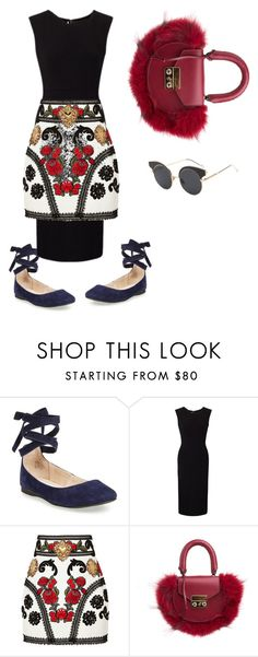 """yasss"" by dariapribilean ❤ liked on Polyvore featuring Steve Madden, Roland Mouret, Dolce&Gabbana, SALAR, Beauty, lovely and classy"