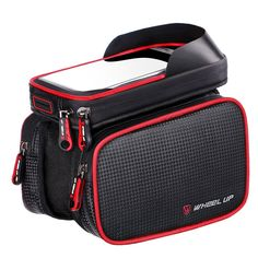 """Abestest Bike Cell Phone Waterproof Bag,Double Bag Pouch Holder Crossbar Bag, Bicycle Bag Touch Screen Fit for Smart Phone 7 7Plus (Black). Large Space: Bike frame bag with 2 side bags, you can keep many small things with them. Duarable and Waterproof: Bike Pouch is made of 100% polyester material, it is durable for washing, and confortable for using. Zipper Disigned: The bike pouch zipper designed can keep your goods save during high speed driving. Dimension: Phone case: 7""""(L) x…"""