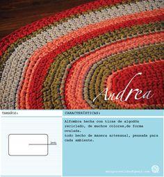 gran alfombra ovaldada de 1,8. hecha con material reciclado.