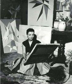 Lygia Clark in her studio. Rio de Janeiro, 1950