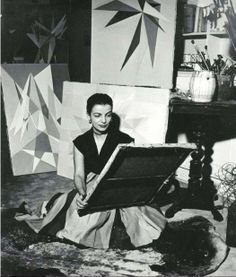Clark in her studio. Rio de Janeiro, 1950