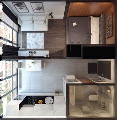 44 minimalist apartment decor modern luxury ideas read to get the full tips 22 Modern Apartment Decor, Small Apartment Interior, Small Apartment Design, Small Apartments, Small Spaces, Small Apartment Plans, Small Home Design, Apartment Ideas, Condo Design
