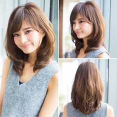 Best hairstyle for big forehead men women hair color blonde medium hairstyles,boho hairstyles lob everyday hairstyles tutorial,messy hairstyles straight bangs hair. Medium Hair Cuts, Medium Hair Styles, Short Hair Styles, Haircuts For Long Hair With Bangs, Hair Cutting Techniques, Asian Short Hair, Hair Arrange, Hair Styles 2014, Cut My Hair