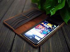 Leather iPhone6/6 plus Wallet/Personalized Wallet/Mens wallet/Vintage Wallet/Travel Wallet/Handmade Wallet/Custom Wallet/Monogrammed Wallet