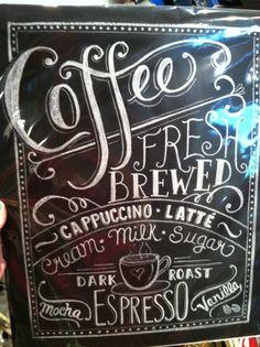 Coffee chalk art