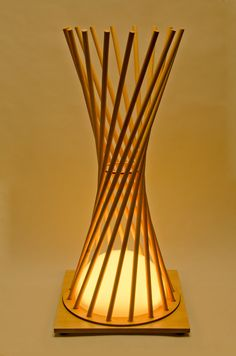 Items similar to Hyperbola Lighting- wooden lamp, customized lamps, interior accessories on Etsy