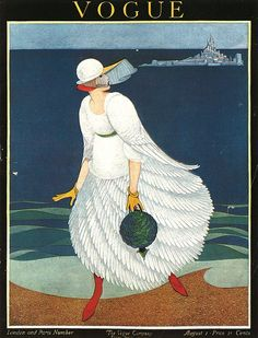 Vogue US Cover - August 1916 - Illustration by George Wolfe Plank - Condé Nast Publications - @~ Mlle