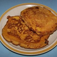 Pumpkin French Toast With Toasted Walnuts