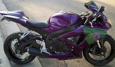 purple Custom Paint Jobs | Zerg Inspired Motorcycle -- Faster Than A Speeding Speedling