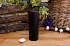 Κεριά Κυλινδρικά Μαύρα Φ6x20εκ Bottle, Home Decor, Decoration Home, Room Decor, Flask, Interior Decorating