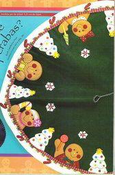 Pie de arbol galleta de gengibre patchwork