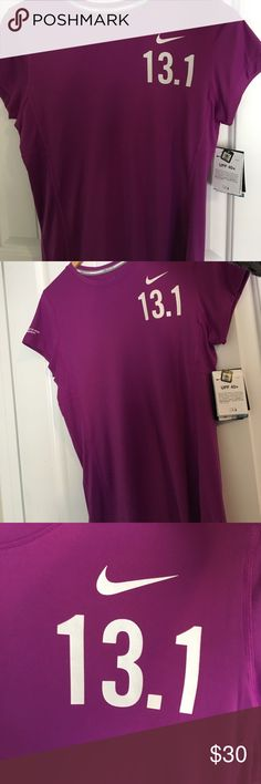 Nike 13.1 short sleeve marathon shirt Never worn, Nike running shirt Nike Tops Tees - Short Sleeve
