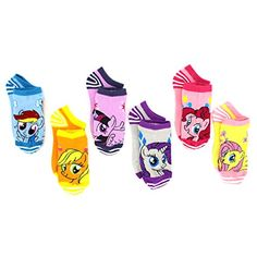 My Little Pony Girls 6 pk Ankle Socks (6-8 (Shoe: 10.5-4), Stripes & Sparkle Ponies) Hasbro http://www.amazon.com/dp/B01674A688/ref=cm_sw_r_pi_dp_R9qmwb1Q9TEE7