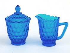 peacock vintage cut-glass sugar and creamer from antiquaria. Sugar Bowls, Sugar Cubes, Bowl Designs, Mad Hatter Tea, Tea Service, Cream And Sugar, Cut Glass, Cup And Saucer, Tea Party