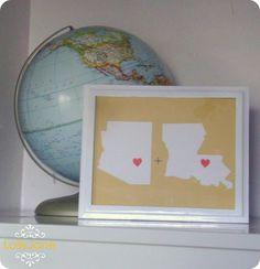 Diy dorm room crafts : DIY State pride