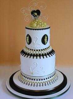 Ceri Griffiths' creative contemporary wedding cake