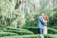 Romantic Spring engagement photos at Magnolia Plantation in Charleston, South Carolina //   Aaron and Jillian Photography » Husband and Wife International Engagement & Wedding Photographers.