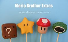 mario bros cake pop ideas