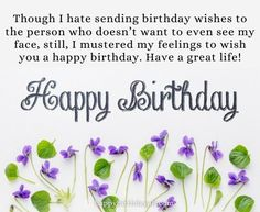 New and unique birthday wishes and messages for your ex boyfriend. Wish him birthday and party with him. Make his birthday unforgettable. Sarcastic Birthday Wishes, Unique Birthday Wishes, Birthday Wishes For Boyfriend, Birthday Messages, Birthday Quotes, Ex Boyfriend Quotes, Breakup Quotes, Motivational, Birthdays