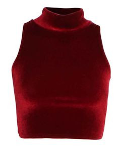 igh Neck 90s Crop Velvet Top in Red £ 7.95 www.chiarafashion.co.uk/high-neck-90s-crop-velvet-top-in-red.html  #red #poloneck #velvet #crop #top #90s #style #celebritystyle
