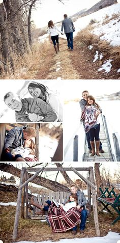 Cute ice skating engagement session