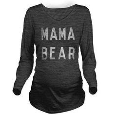 Mama Bear Long Sleeve Maternity T-Shirt